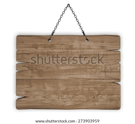 3D. Wood, Sign, Plank.
