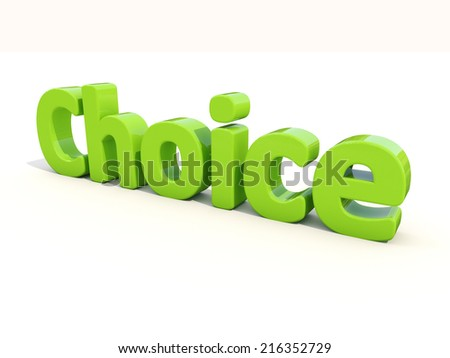 3d word choice