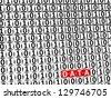3D Word Data inside zero one blocks - stock photo