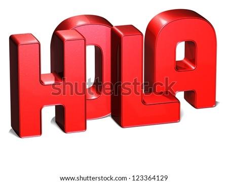 3D Word Hello on white background - stock photo
