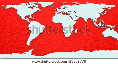 3d World Map - stock photo