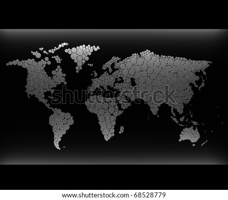3d world map concept - stock photo