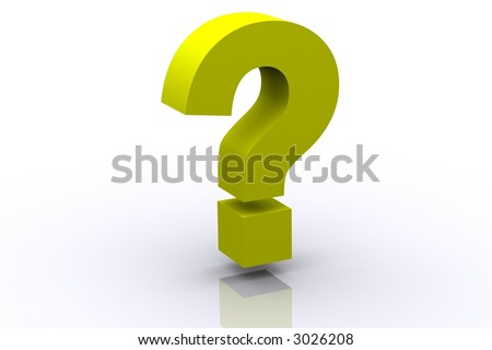 3d Yellow Question Mark - stock photo