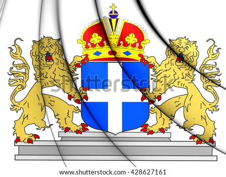 3D Zwolle Coat of Arms, Netherlands. Close Up. - stock photo