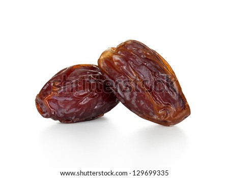 dates on white background - stock photo