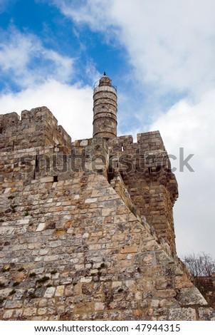 David tower - The Old City Jerusalem - stock photo