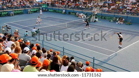 Davis Cup Tennis Tournament in Cyprus - stock photo