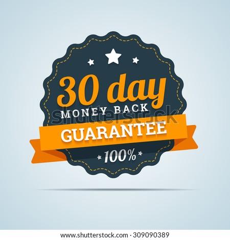 30 day money back badge. - stock photo
