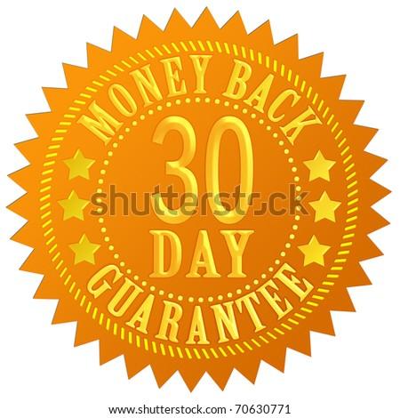 30 day money back guarantee - stock photo
