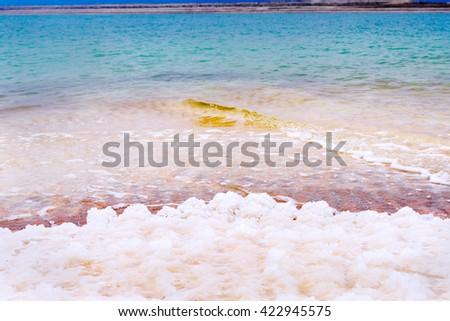 dead sea salt crystals.  - stock photo