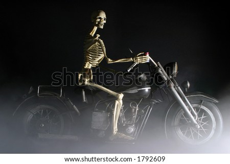 """Death rides a Chopper"" - stock photo"