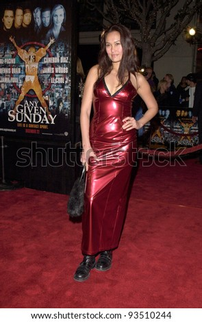 "16DEC99: Actress TIA CARRERE at the world premiere, in Los Angeles, of Oliver Stone's ""Any Given Sunday"" which stars Al Pacino & Cameron Diaz.  Paul Smith / Featureflash - stock photo"
