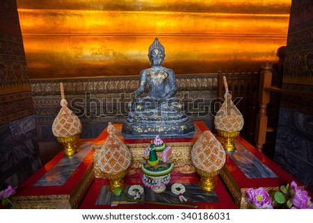 10 DEC 2014 BANGKOK, Thailand Buddha Gold Statue In Wat Pho on the 10th of december, Bangkok