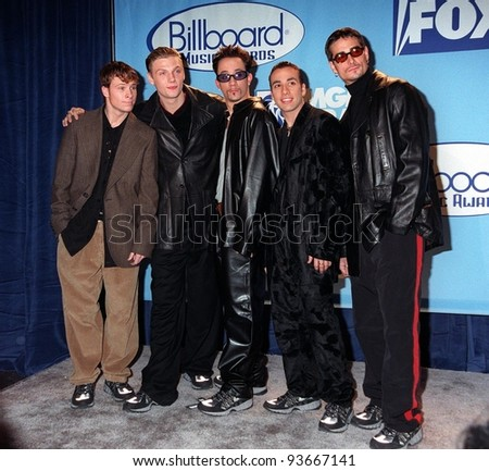 08DEC97:  Pop group BACK STREET BOYS at the Billboard Music Awards at the MGM Grand in Las Vegas.