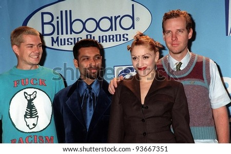 08DEC97:  Pop group NO DOUBT, with lead singer GWEN STEFANI, at the Billboard Music Awards at the MGM Grand in Las Vegas.