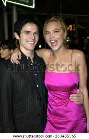 16 December 2004 - Hollywood, California - Arielle Kebbel and Tad Hilgenbrinck. The premiere of 'Meet The Fockers' at the Universal Amphitheatre Universal Studios in Hollywood.  - stock photo
