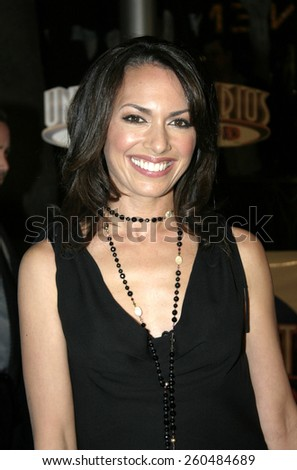 16 December 2004 - Hollywood, California - Susanna Hoffs. The premiere of 'Meet The Fockers' at the Universal Amphitheatre Universal Studios in Hollywood.  - stock photo