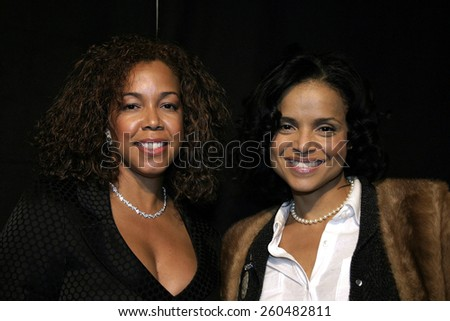 17 December 2004 - Hollywood, California - Victoria Rowell and guest. 9th Annual Multicultural Prism Awards at the Henry Fonda Theater in Hollywood. - stock photo