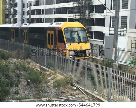 2016 December 29 View Of Sydney Train Coming To Olympic Park Station