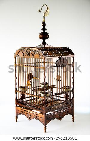 """Decorative birdcage beautiful bird lovers."" - stock photo"
