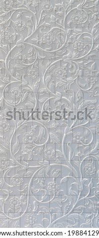 Decorative element in the Sheikh Zayed Grand Mosque - stock photo