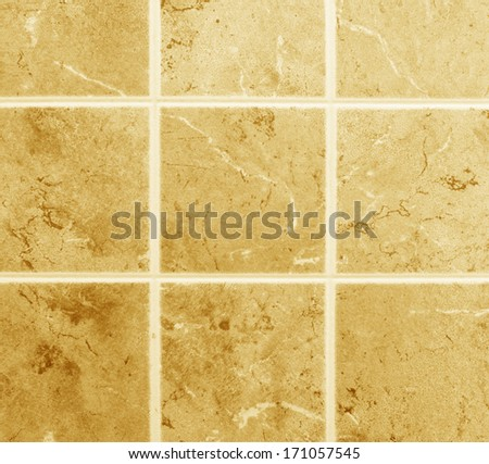 decorative square wall with marble slabs - stock photo