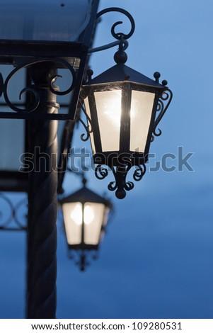 Decorative street lantern - stock photo