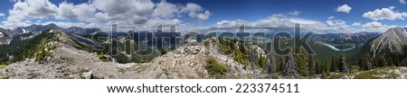 360 degree view of Heart Mountain Loop Hike, Alberta, Canada Approximately 50 West of Calgary - stock photo