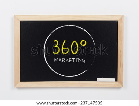 360 degrees Marketing Concept with White Chalk on a Blackboard - stock photo