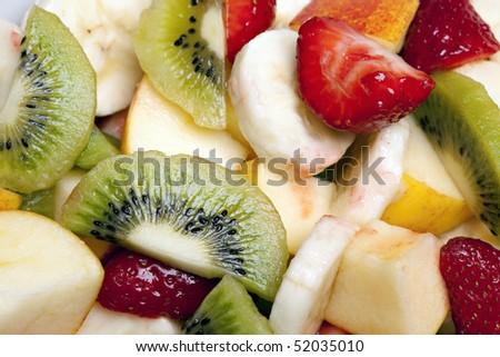 Delicious fresh fruit salad - stock photo