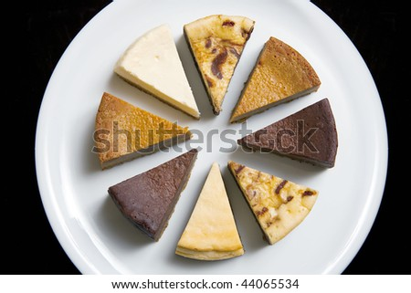 Deserts on plate - stock photo