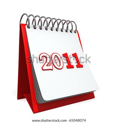 2011 Desktop Calendar - stock photo