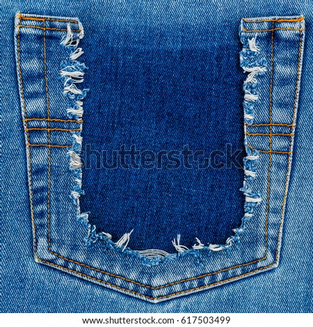 how to fix ripped jeans back pocket