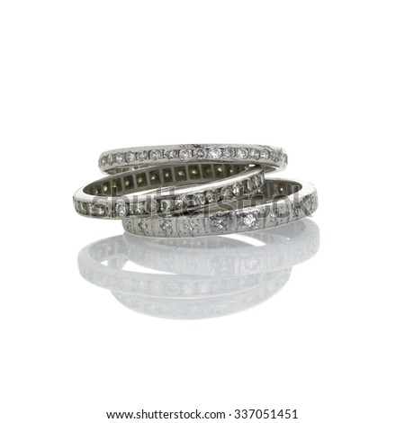 3 diamond wedding bands