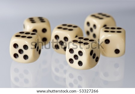 6 dices - stock photo