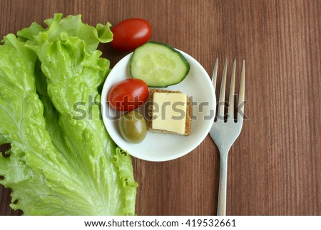 Diet concept - small portion - stock photo
