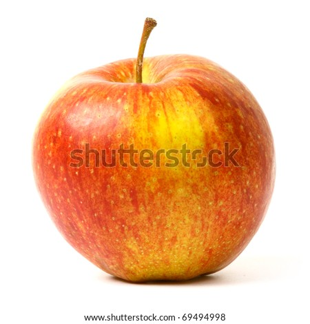 3 different colors apples on white background - stock photo