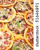 different kinds of pizza - stock photo