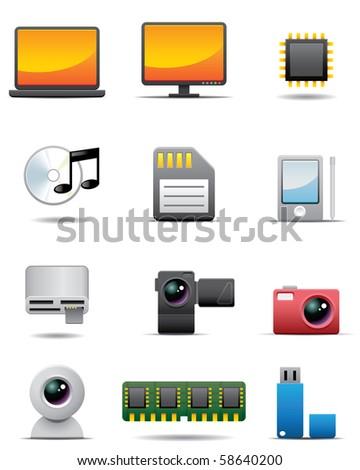 Digital Electrical Appliance Icon Set -- Premium Series - stock photo