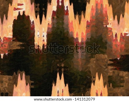 Digital structure of painting. Abstract art background