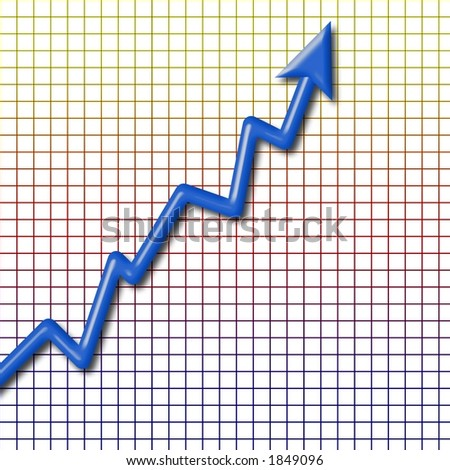 3 dimensional chart - stock photo