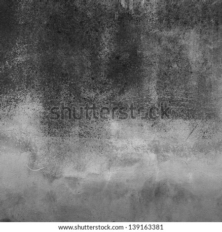 dirty old concrete wall - stock photo