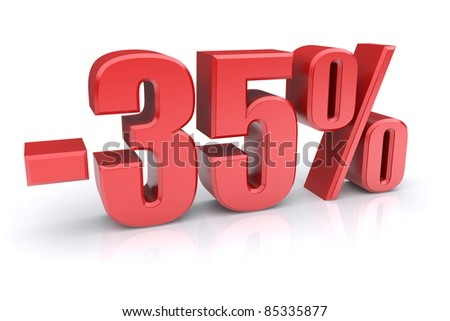 35% discount icon on a white background