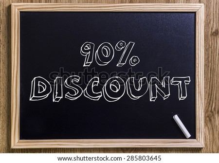 90% discount - New chalkboard with 3D outlined text - on wood
