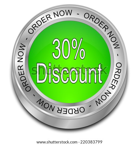 30% Discount - order now Button - stock photo