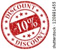 10% discount stamp - stock photo