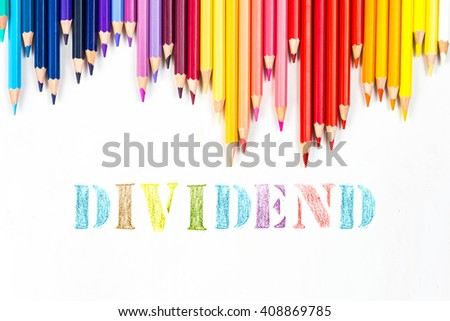 Dividend drawing by colour pencils
