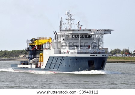 Diving Offshore Construction Support Vessel - stock photo