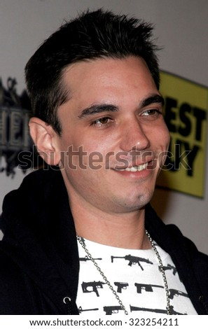 10/17/2005. DJ AM aka Adam Goldstein attends the Usher Host Truth Tour DVD Launch Party at the Hollywood Roosevelt Hotel in Hollywood, CA, USA.