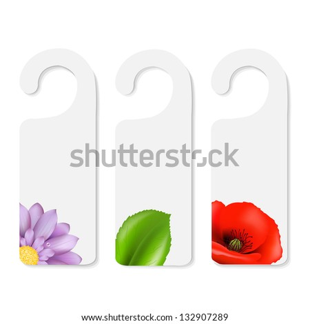 3 Do Not Disturb Signs - stock photo